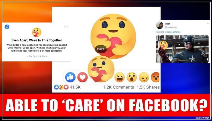new facebook care emoji