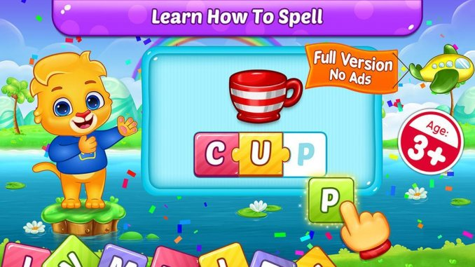 7 Best Learning apps for kids in 2021; ABC Spelling for Kids
