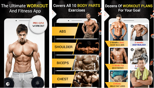 Best workout Apps; pro gym workout