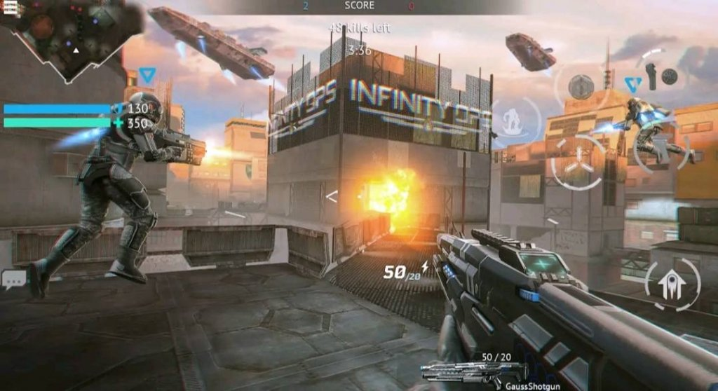 Top 7 Best Realistic Games for Android in 2021: Infinity Ops: Online FPS Cyberpunk Shooter