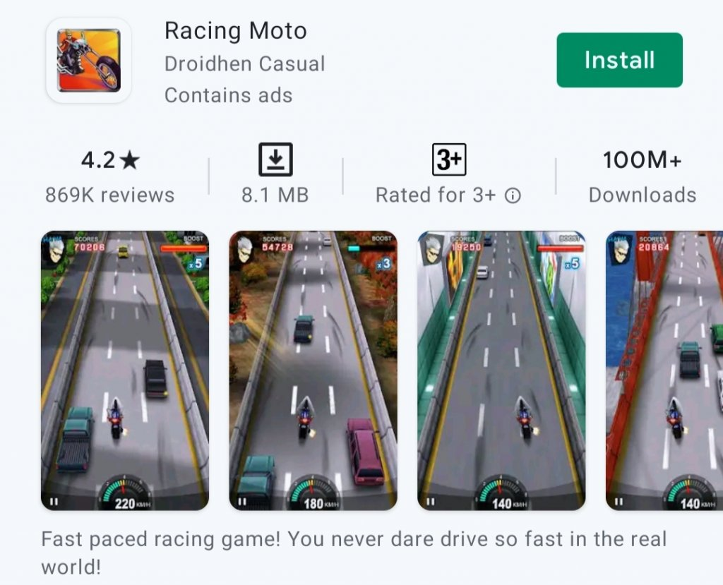 7 Best Small Size Games for Android in 2021: Racing Moto