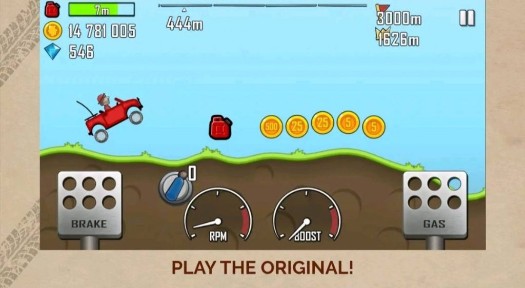 7 Best Small Size Games for Android in 2021: Hill Climb Racing