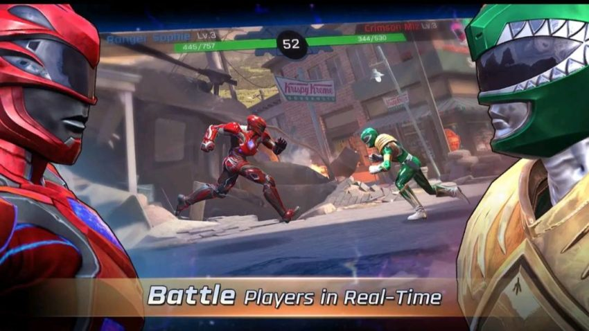 7 best cartoon games for android in 2021; Power Rangers: Legacy Wars