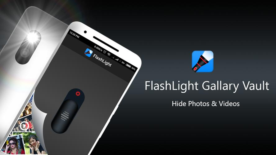 Best photo Hiding Apps; flash light vault