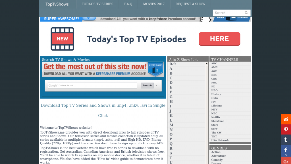 Best Sites To Download Television Series-toptvshows