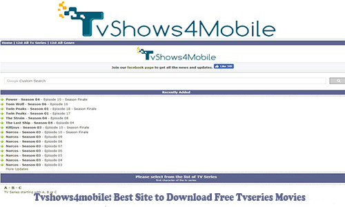 Best Sites To Download Television series-Tvshows4mobile