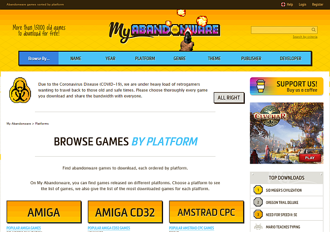 Best Websites To Download Paid PC Games For Free-my-abandonware