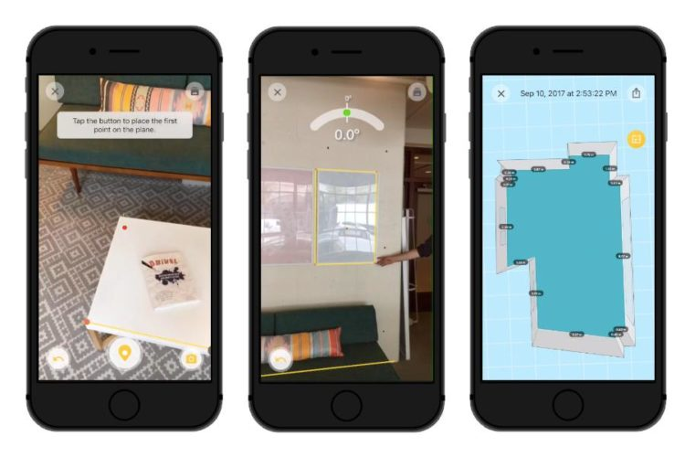 Best Augmented Reality apps; tapmeasure