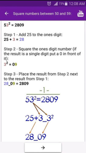 Best educational apps for Android 2021; Math Tricks