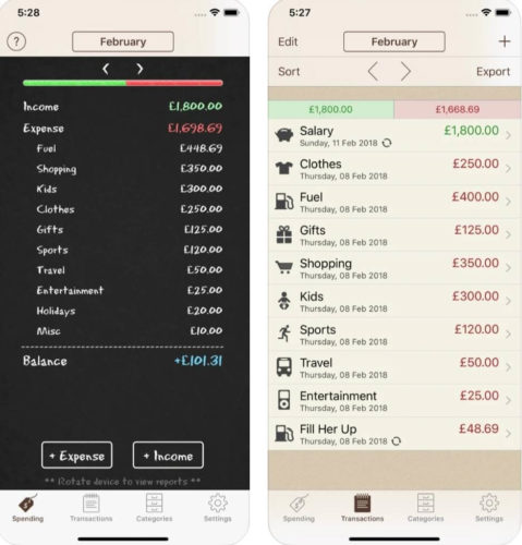 Best budgeting iOS apps 2021; Spending Tracker