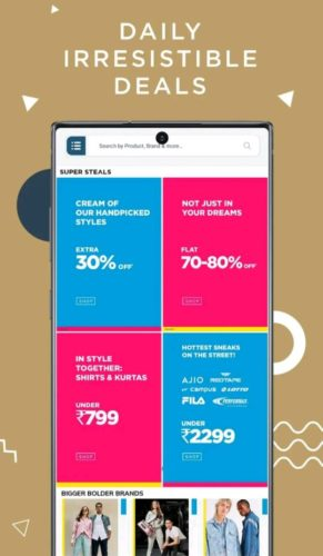 Best Android shopping apps 2021; Ajio Shopping app