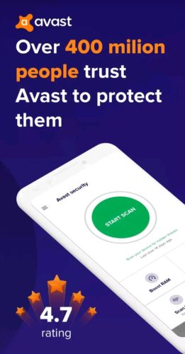 Best antivirus apps for Android 2021; avast app
