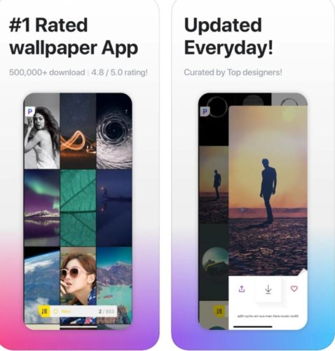 Best iOS Wallpaer apps 2021; papers. co