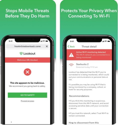Best iOS antivirus apps 2021; Lookout Mobile Security