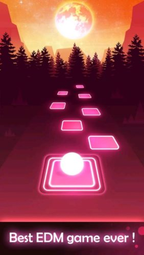 Best music games for Android 2021; Tiles Hop: Edm rush