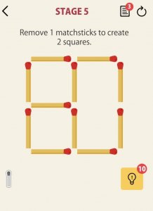 Best educational games for iOS 2021; matchsticks