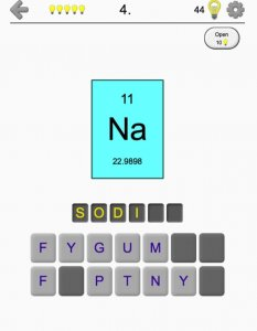 Best educational games for iOS 2021; elements and peroidic table