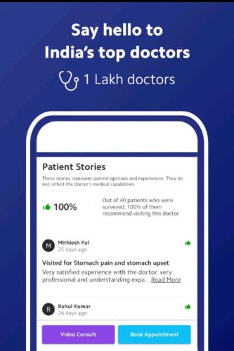 Best medical apps for Android 2021; Practo