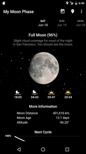 Best Weather Apps for Android 2021; My moon phase