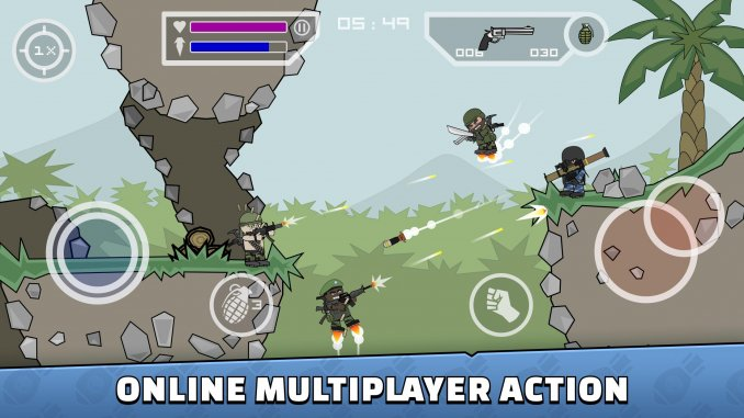 best multiplayer games for android; Mini Militia - Doodle Army 2