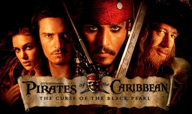 most entertaining movies in the world; Pirates of Caribbean
