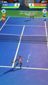best multiplayer games for android; Tennis Clash