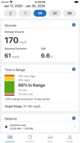 best medical apps for iOS in 2021; dexcom clarity