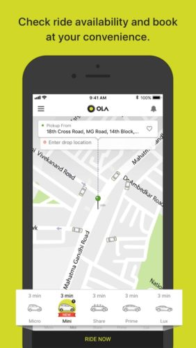 best maps and navigation apps for iOS 2021; ola
