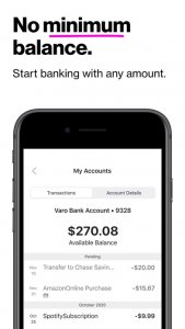 best mobile banking apps in 2021; Varo Bank: Mobile Banking