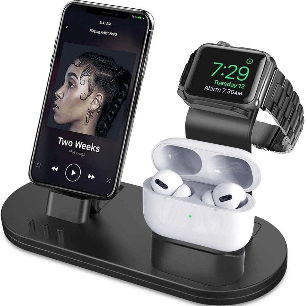Best Apple Watch Accessories Series 5; 3-In-One Charging Station