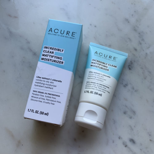 Best Summer Moisturizers For Acne-Prone Skin; Acure Incredibly Clear Mattifying Moisturizer