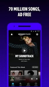 best music streaming apps for android in 2021; Amazon music