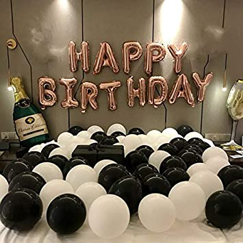 Birthday Party Decoration Ideas - black and white ballons