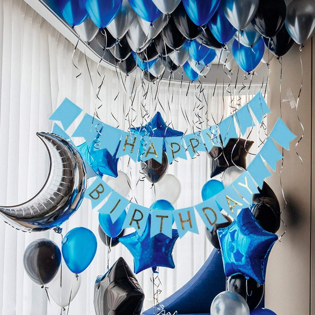 Birthday Party Decoration Ideas - blue ballons
