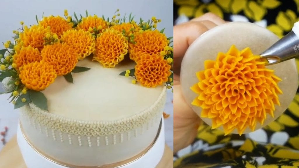 Birthday Party Decoration Ideas- flower cake