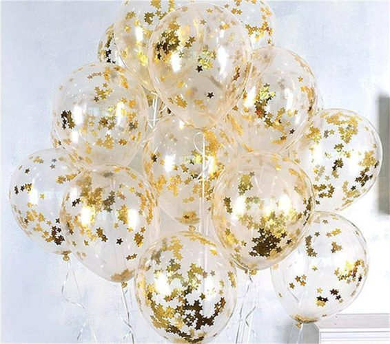 Birthday Party Decoration Ideas - transparent ballons