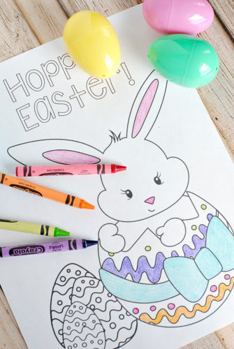 Easter Party Ideas- easter coloring