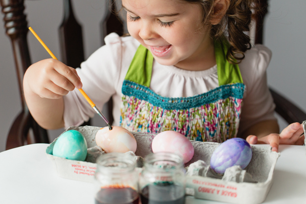 Easter Photoshoot- egg coloring