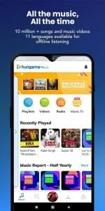 best music streaming apps for android in 2021; Hungama Music