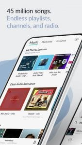 best music streaming apps for android in 2021; JioSaavan