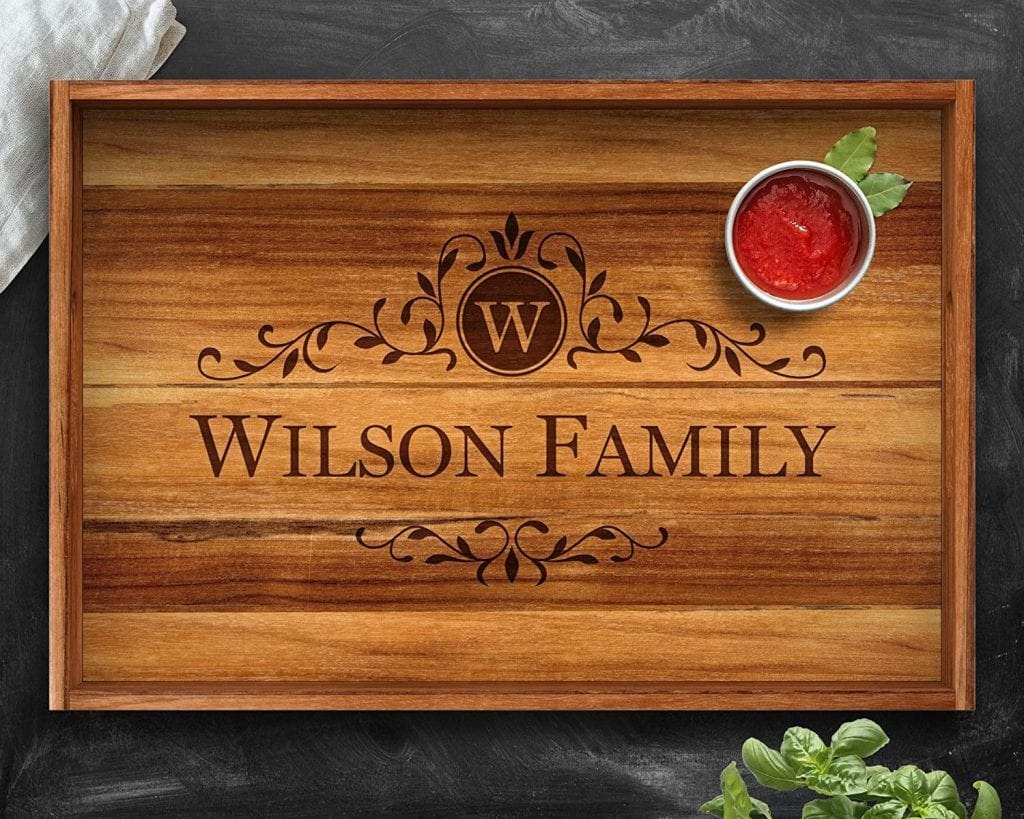 Mother's day gift ideas in 2021-Personalized Serving Tray