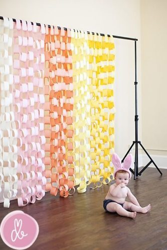 easter photoshoot- paper chain