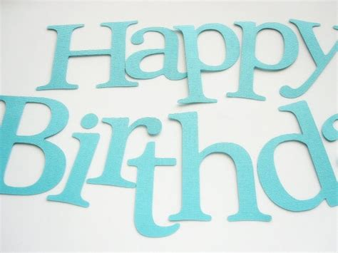 Bithday party ideas - letter cutout