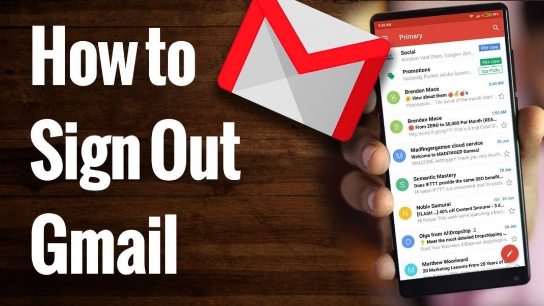 sign out gmail