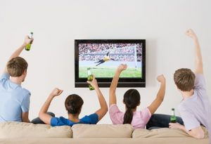 Watch a sports game; what to do when you are bored at home