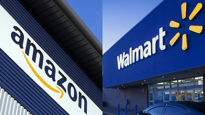 Amazon v/s Walmart as Physical Stores