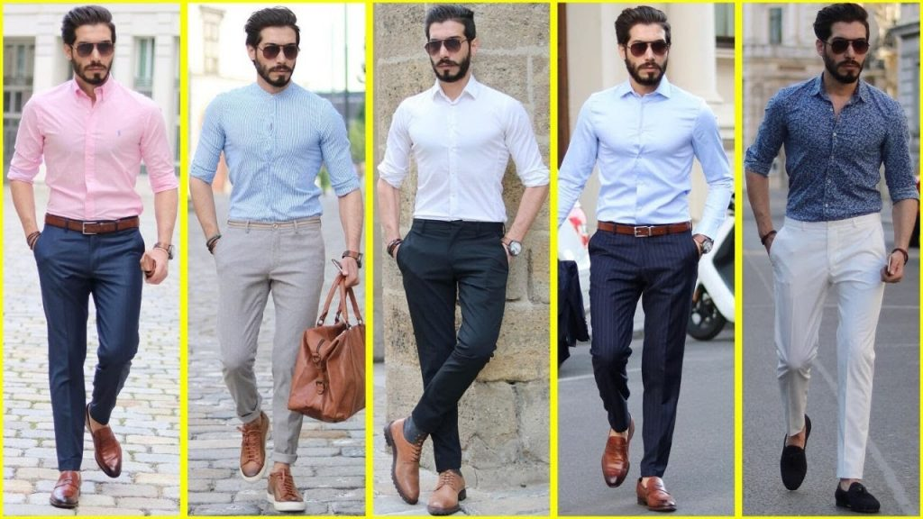 Different Styles To Wear A Shirt - Tucked in with open button
