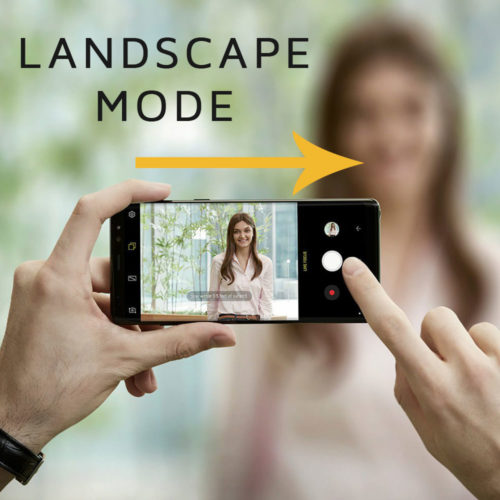 Vlogging Using Your Android Phone; #Step 2: Horizontal Orientation of the Phone is Preferred More