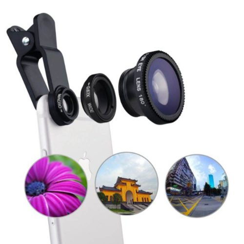 Equipment For Vlogging on iPhone; Optic 3-in-1 Smartphone Lenses