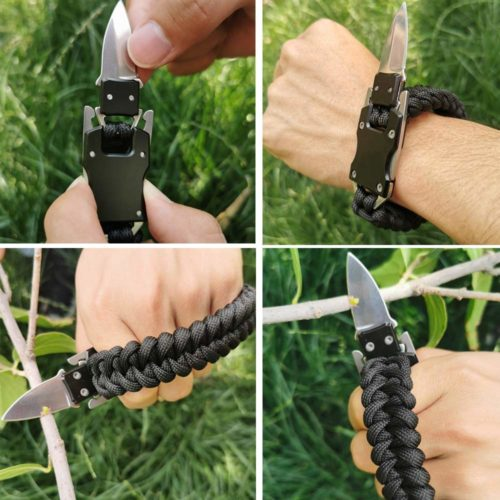Best Gifts for Outdoorsy Women; Paracord Knife Bracelet